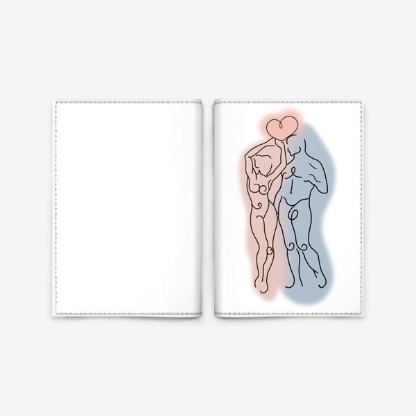 Обложка для паспорта «Сердце его теперь в твоих руках... Это любовь.  День влюблённых. Любимым»