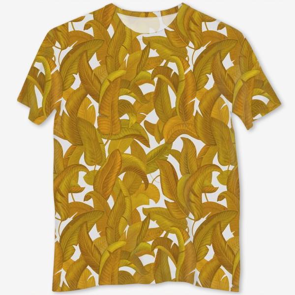 Футболка с полной запечаткой «Желтые листья»