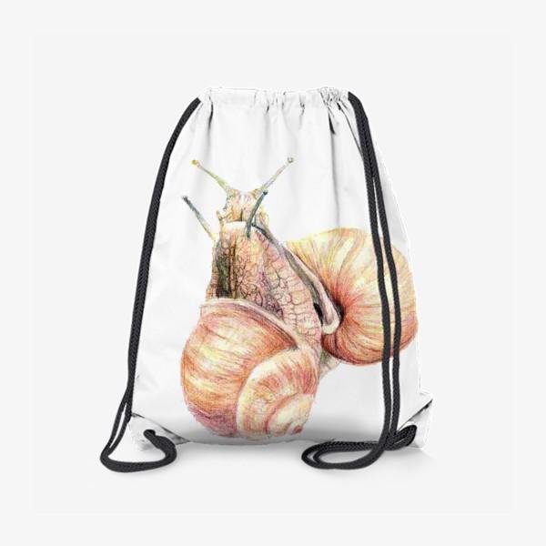 Рюкзак «пара влюбленных улиток (улитка)»