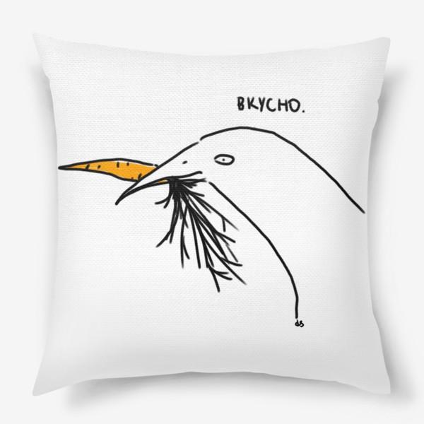 Подушка «Слаще морковки ничего не ела птица»