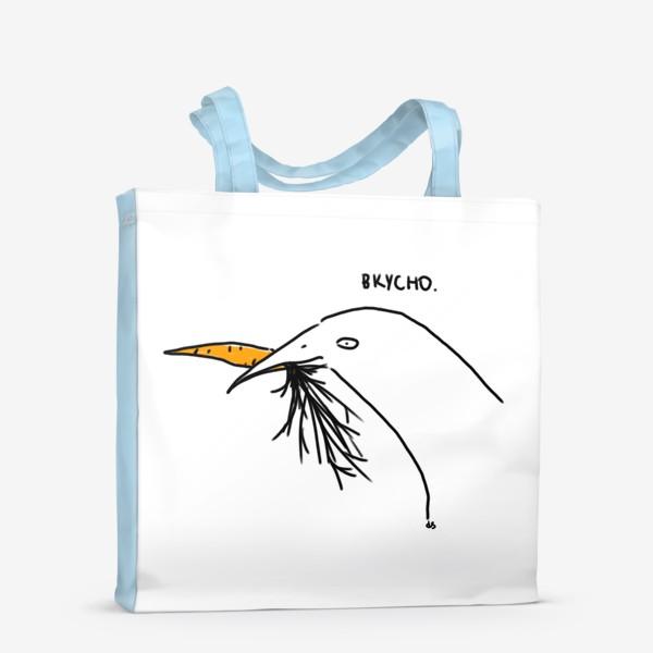 Сумка-шоппер «Слаще морковки ничего не ела птица»