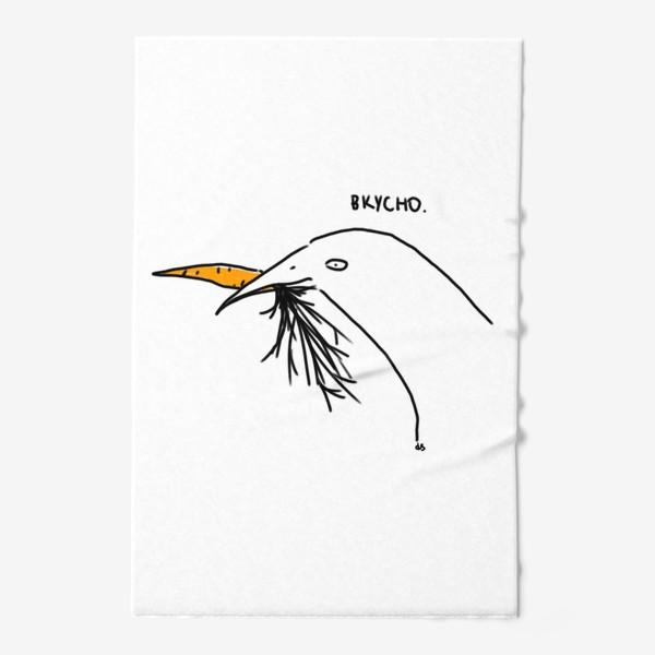 Полотенце «Слаще морковки ничего не ела птица»
