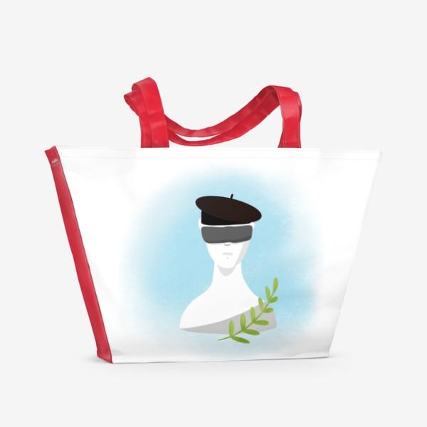 Пляжная сумка «Скульптура искусство »