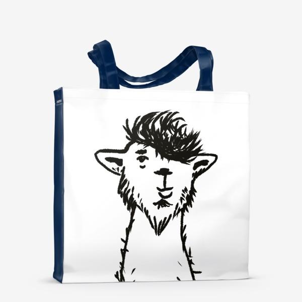 Сумка-шоппер «лама. альпака»