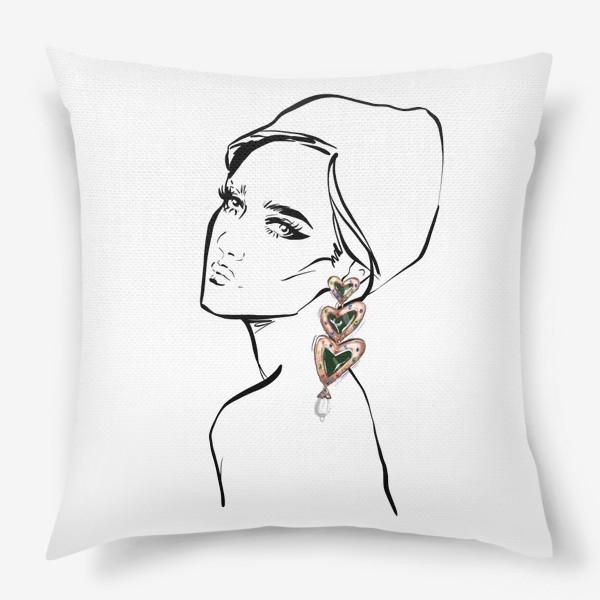 Подушка «Girl with earring »