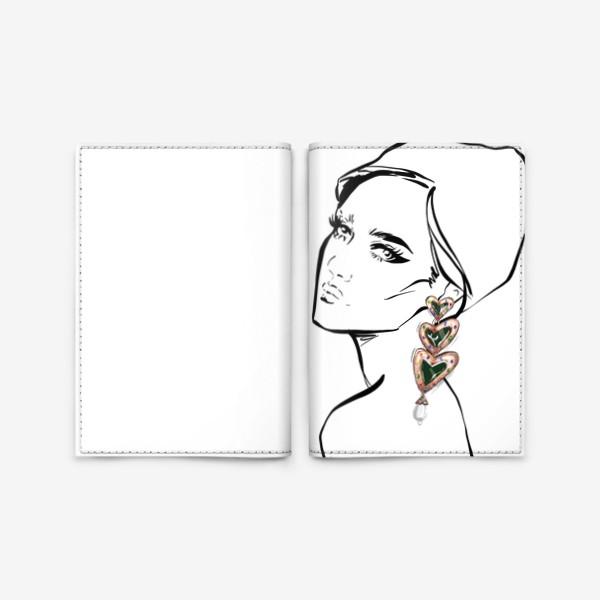 Обложка для паспорта «Girl with earring »