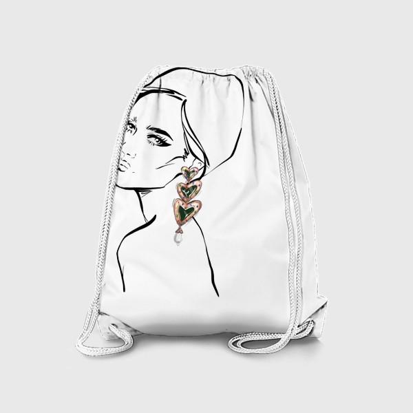 Рюкзак «Girl with earring »