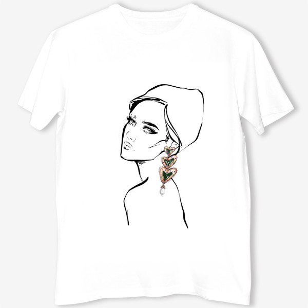 Футболка «Girl with earring »
