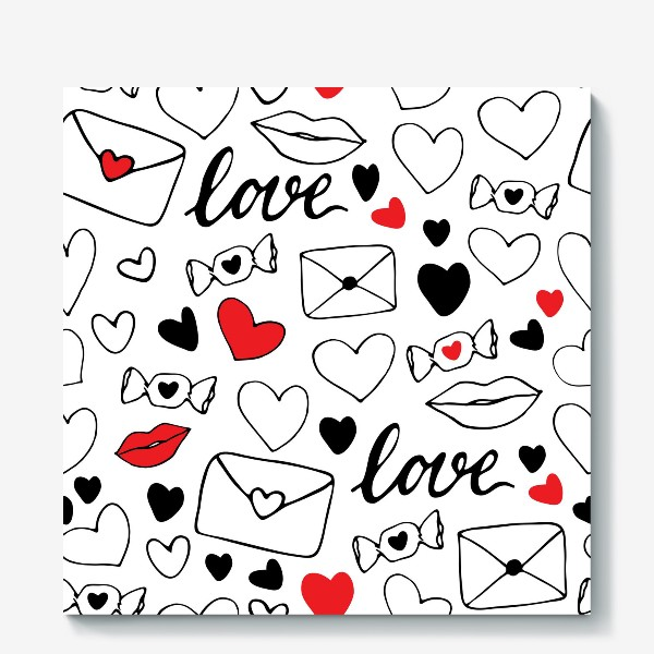 Холст «Любовная тема»