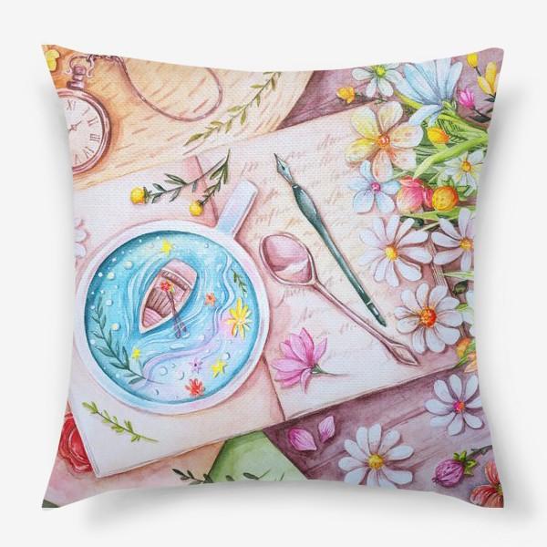 Подушка «Весенние мечты. Акварель»