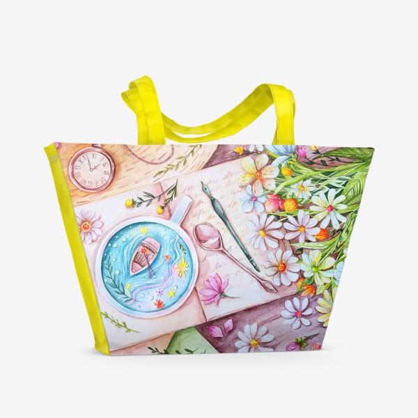 Пляжная сумка «Весенние мечты. Акварель»
