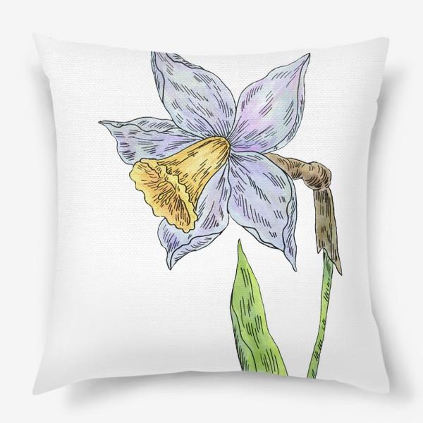 Подушка «Весенний нарцисс»