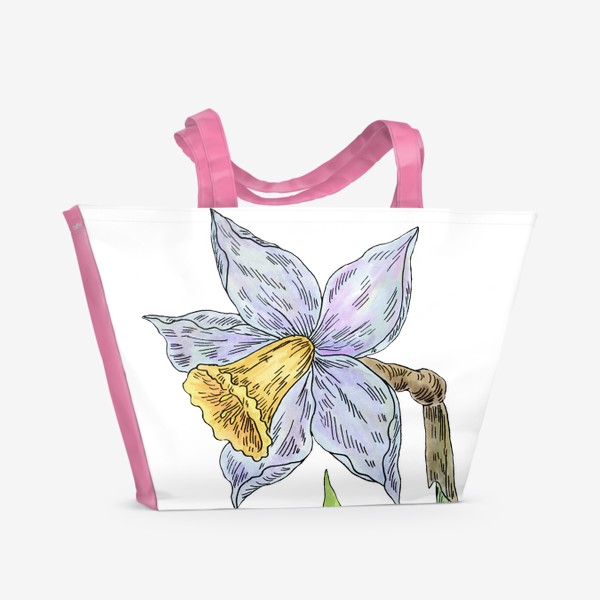 Пляжная сумка «Весенний нарцисс»