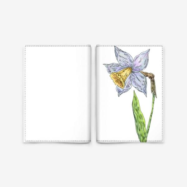 Обложка для паспорта «Весенний нарцисс»