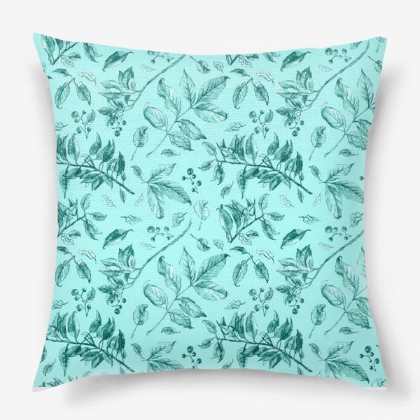 Подушка «Акварельные осенние листья 7»