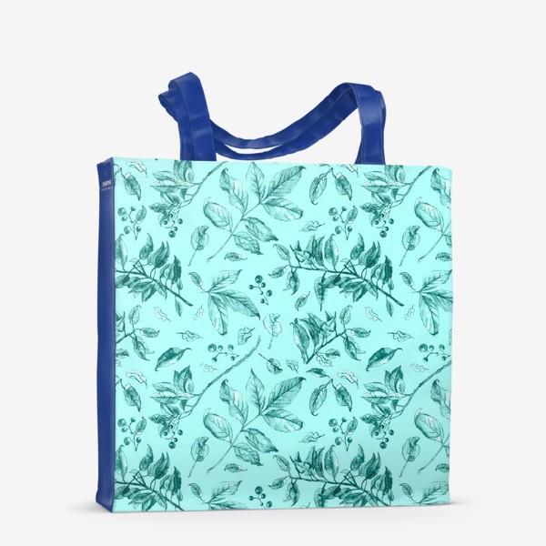 Сумка-шоппер «Акварельные осенние листья 7»