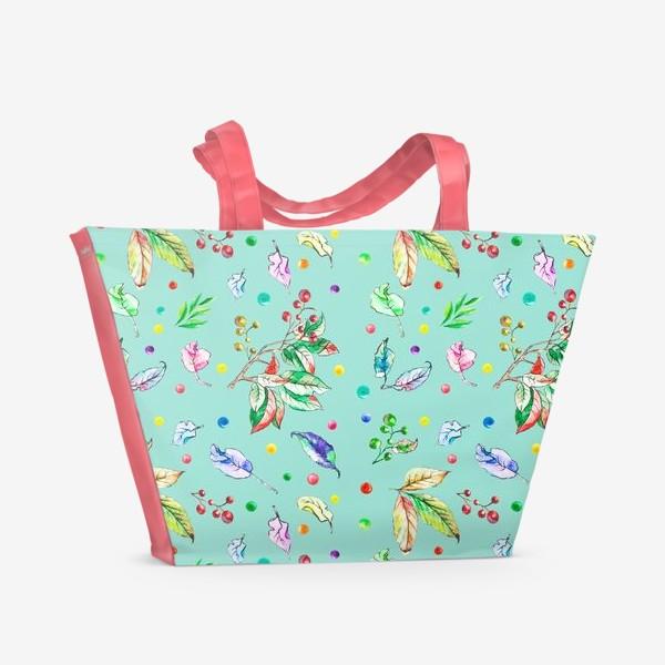 Пляжная сумка «Акварельные осенние листья 8»