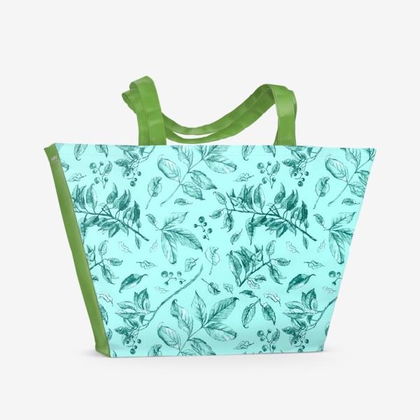 Пляжная сумка «Акварельные осенние листья 7»