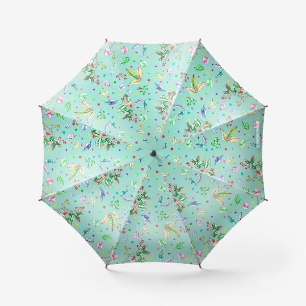 Зонт «Акварельные осенние листья 8»