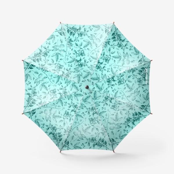 Зонт «Акварельные осенние листья 7»
