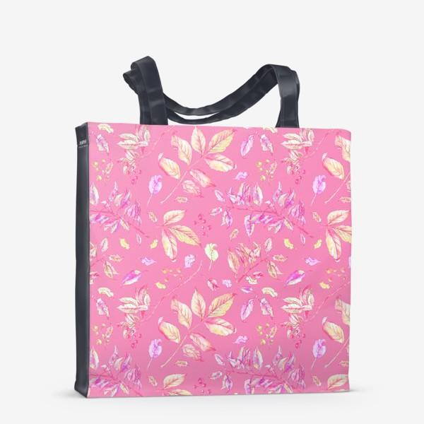 Сумка-шоппер «Акварельные осенние листья 5»