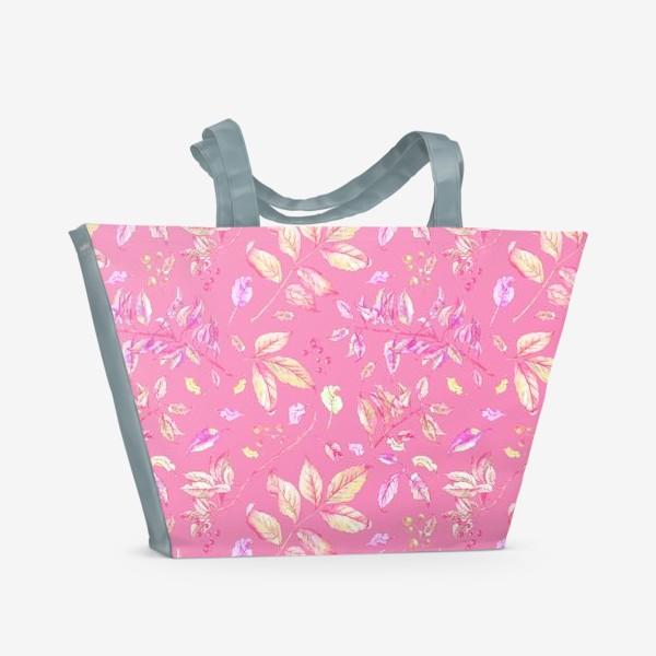 Пляжная сумка «Акварельные осенние листья 5»