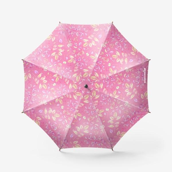 Зонт «Акварельные осенние листья 5»
