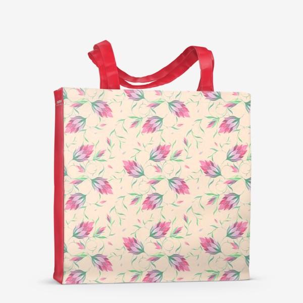 Сумка-шоппер «Милые цветы на вьющихся веточках»