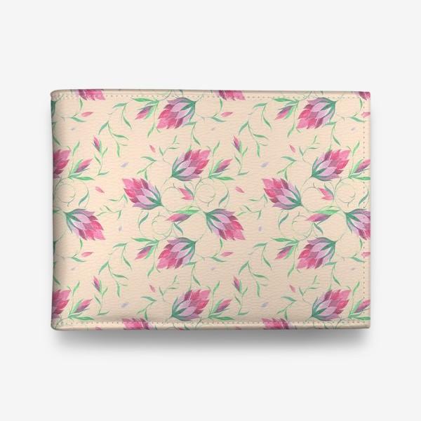 Кошелек «Милые цветы на вьющихся веточках»