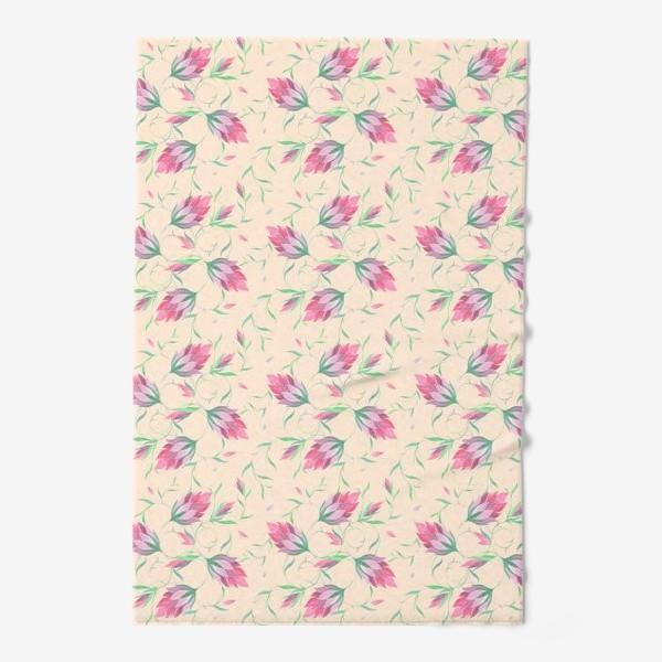 Полотенце «Милые цветы на вьющихся веточках»