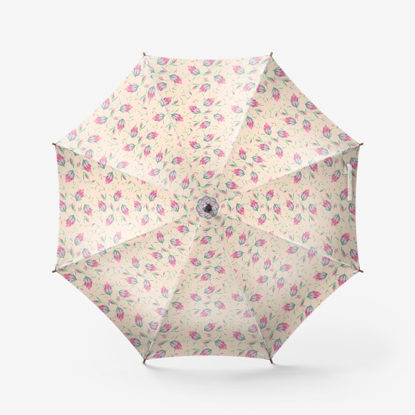 Зонт «Милые цветы на вьющихся веточках»