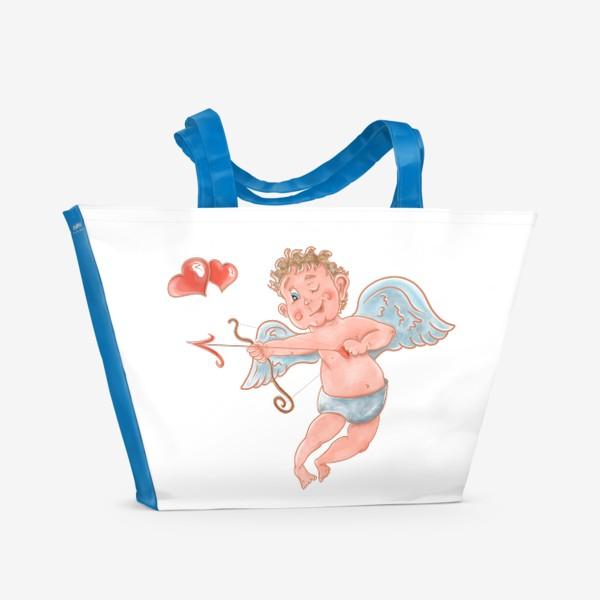 Пляжная сумка «Амур. День влюбленных»