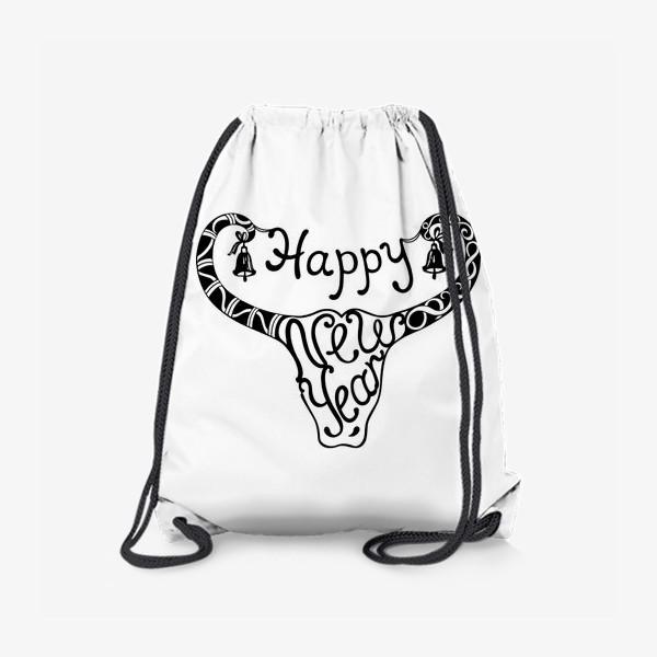 Рюкзак «Бык. Графика.»