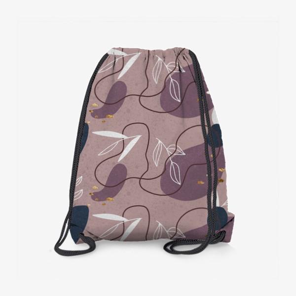 Рюкзак «Абстрактный  паттерн с золотыми акцентами»