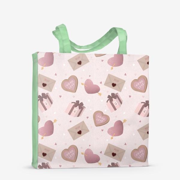 Сумка-шоппер «Паттерн «День Валентина»»