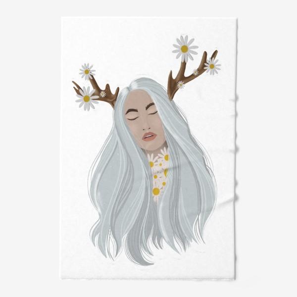 Полотенце «Рисунок «Девушка с ромашками»»