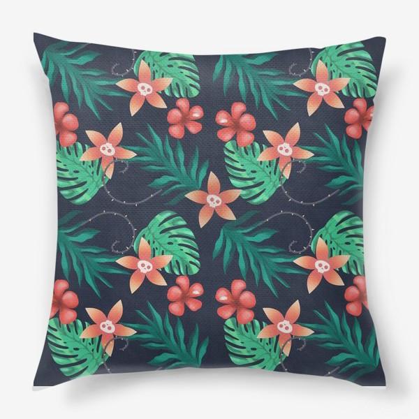 Подушка «Паттерн «Гавайи с изюминкой»»