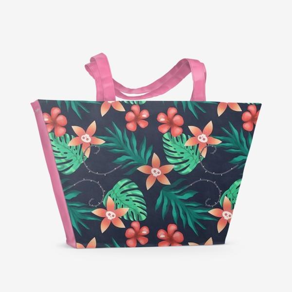 Пляжная сумка «Паттерн «Гавайи с изюминкой»»