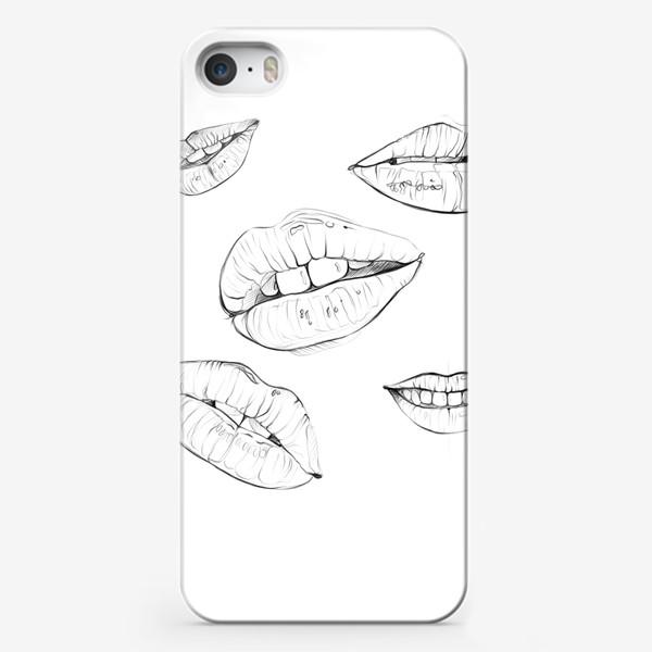 Чехол iPhone «Губы. Без фона. 14 февраля. День всех влюблённых.»