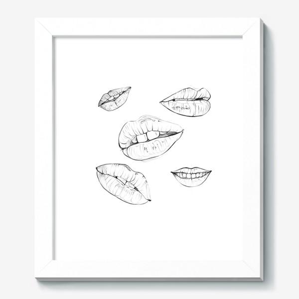Картина «Губы. Без фона. 14 февраля. День всех влюблённых.»