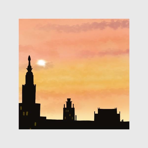Шторы «Восход в городе»