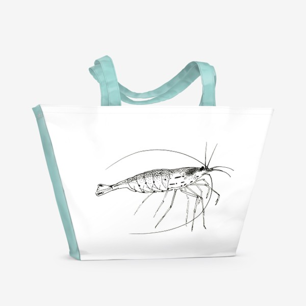 Пляжная сумка «Креветка Амано»
