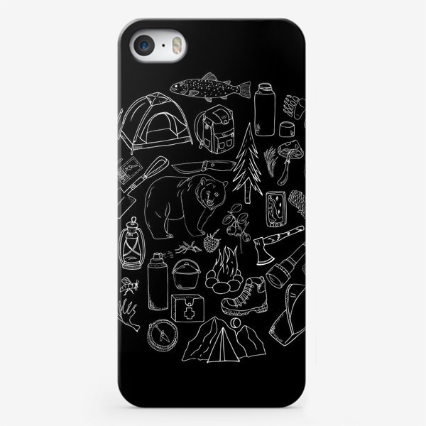Чехол iPhone «туризм, поход лесной»