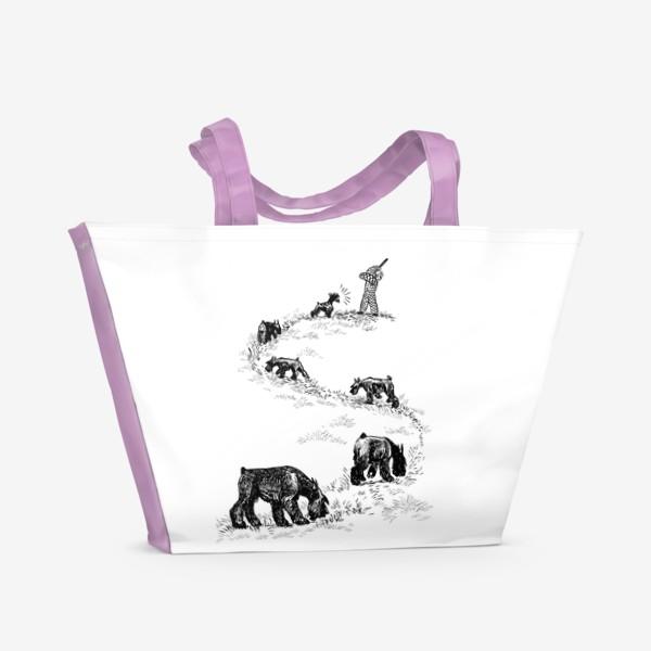 Пляжная сумка «Нюхачи»