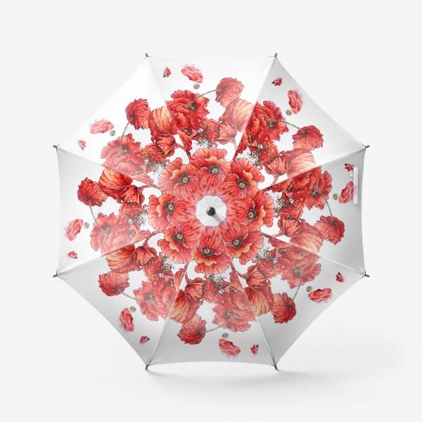 Зонт «Букет маков»