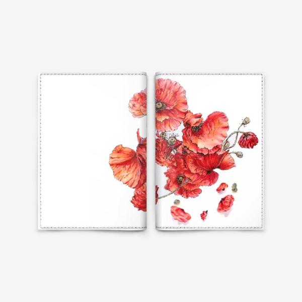 Обложка для паспорта «Букет маков»