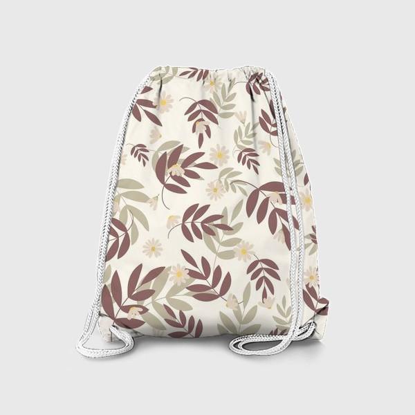 Рюкзак «веточки на бежевом»