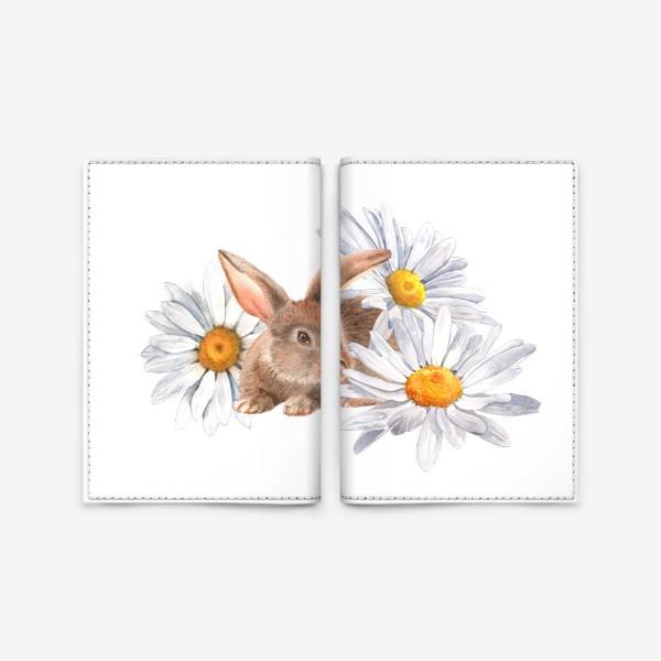 Обложка для паспорта «Зайка в ромашках»
