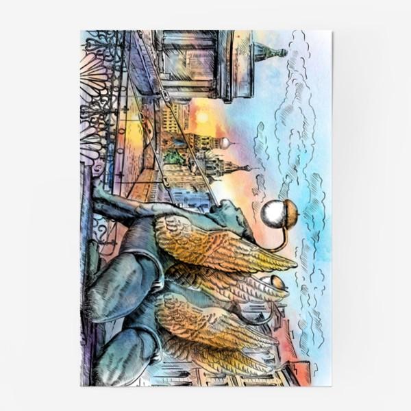 Постер «Банковский мост с грифонами, Санкт-Петербург»