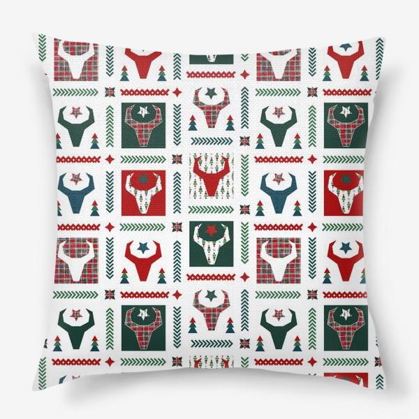 Подушка «Паттерн бык.»